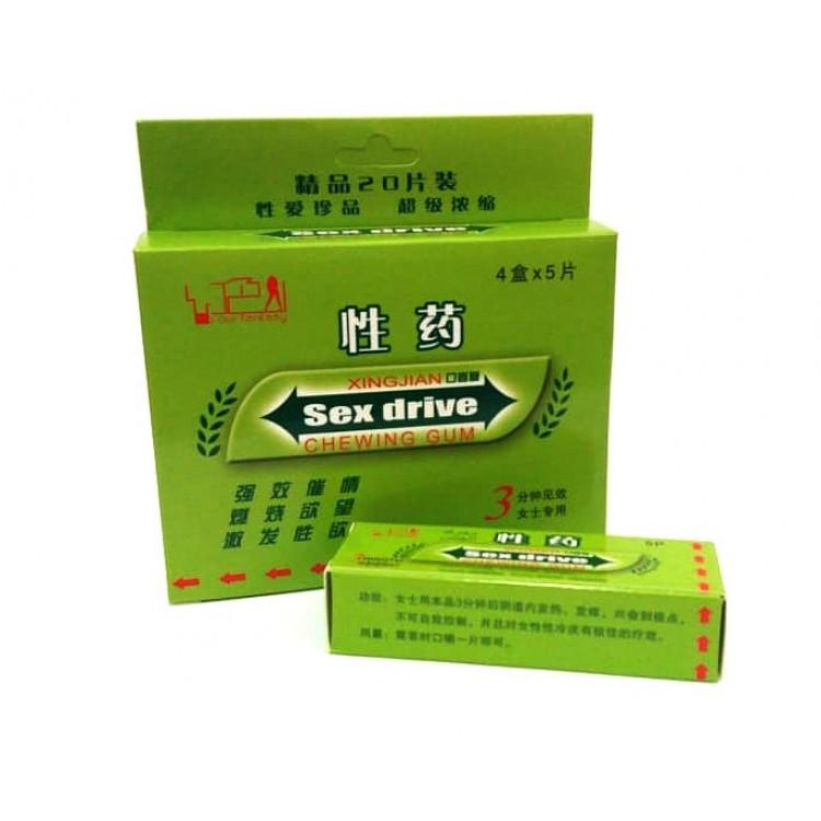 Sex drive gum chewing возбуждающая жевательная резинка для женщин  | Био Маркет