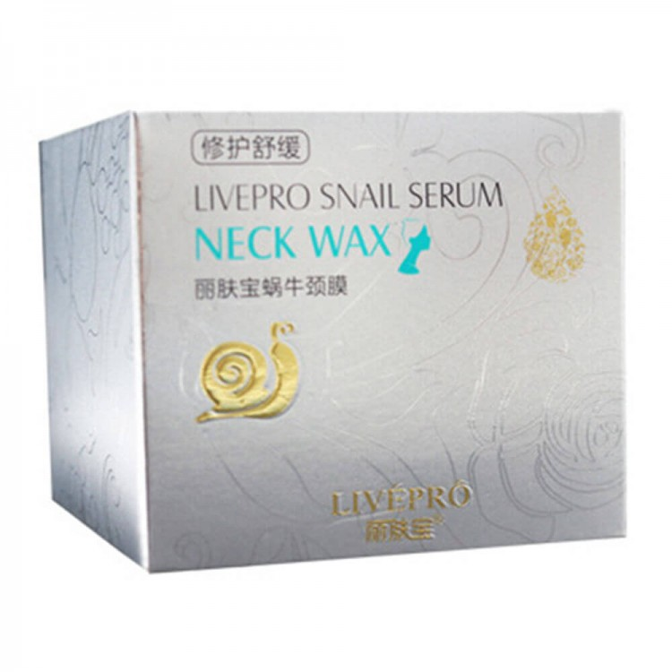 Увлажняющий воск для шеи с экстрактом улитки Snail serum neck wax.  Liverpro  | Био Маркет