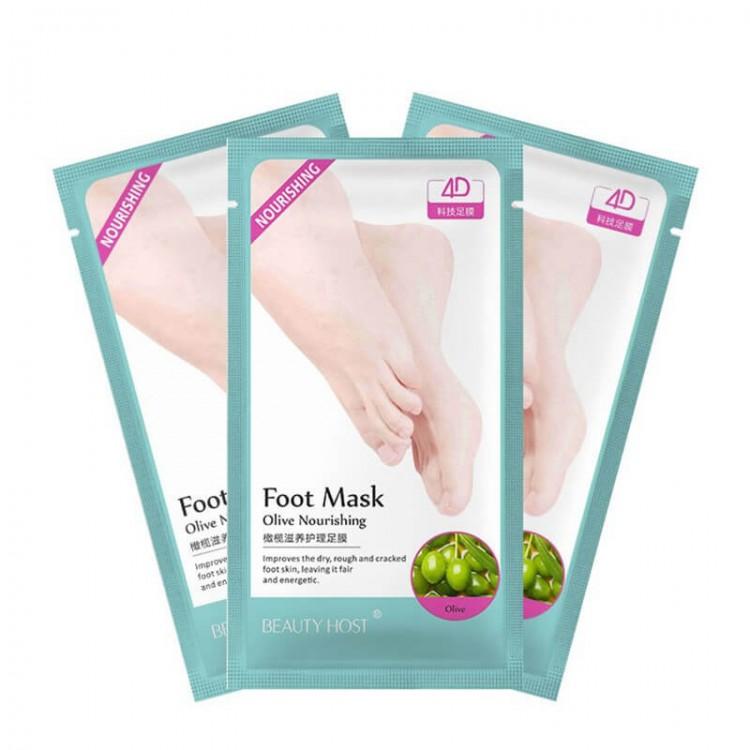 Маска- носочки для ног с экстрактом оливы Nourishing  | Био Маркет