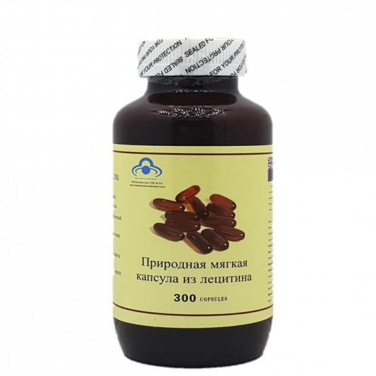 природная мягкая капсула из лецитина, 300 капсул  | Био Маркет